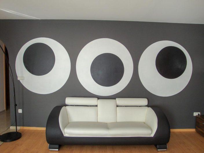 Peinture décorative murale moderne