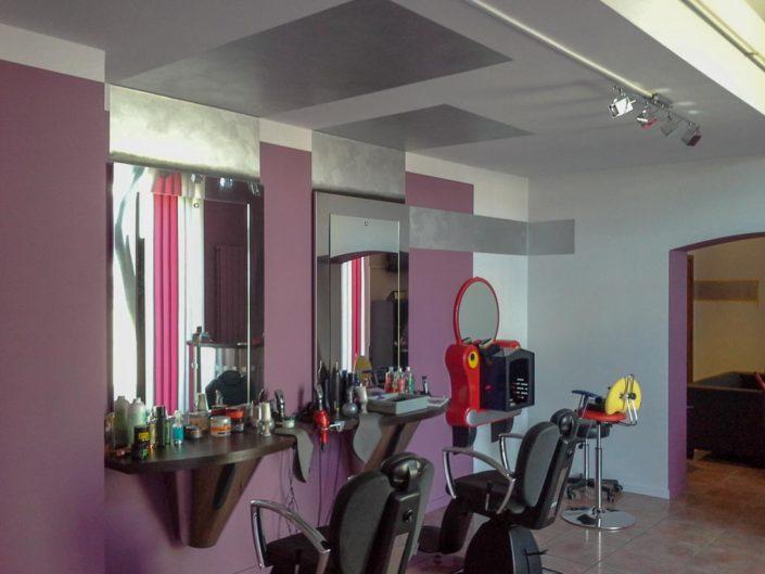 Peinturedeco - Décoration murale salon coiffeur
