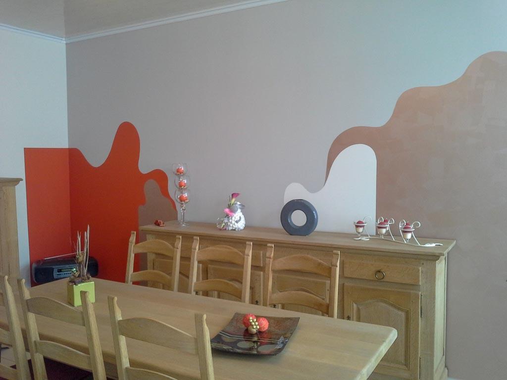 deco peinture mur awesome couleur de peinture murale vert canard et mode vintage blanche. Black Bedroom Furniture Sets. Home Design Ideas